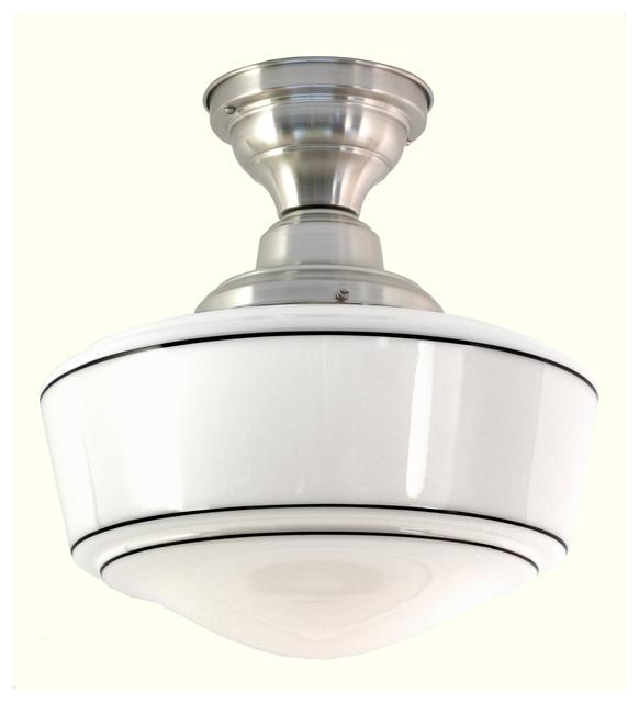 Northwestern 6 semi flushmount ceiling fixture for Flush mounted kitchen lighting