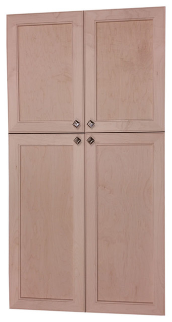 Village Sq On The Wall 4-Door Frameless 18/28 Pantry Cabinet, 2.5x49.