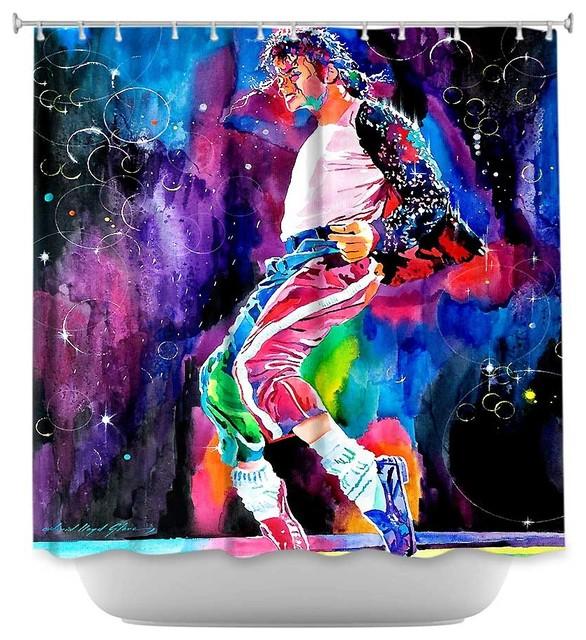 Shower Curtain Unique from DiaNoche Designs - Michael Jackson Dance