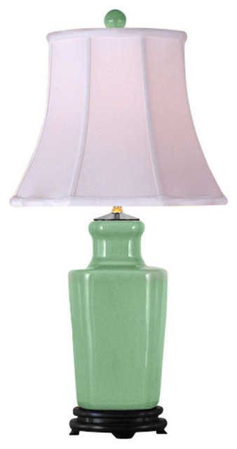 Celadon Porcelain Chinese Vase Table Lamp 26 Traditional Table