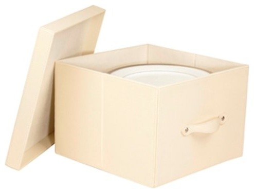 Richards Homewares Faux Leather China Plate Storage Box