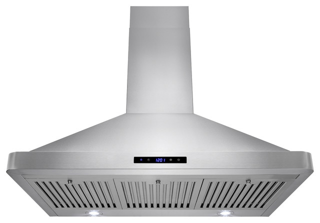 Golden Vantage 36 Touch Panel Control Stainless Steel Wall Mount Range Hood.