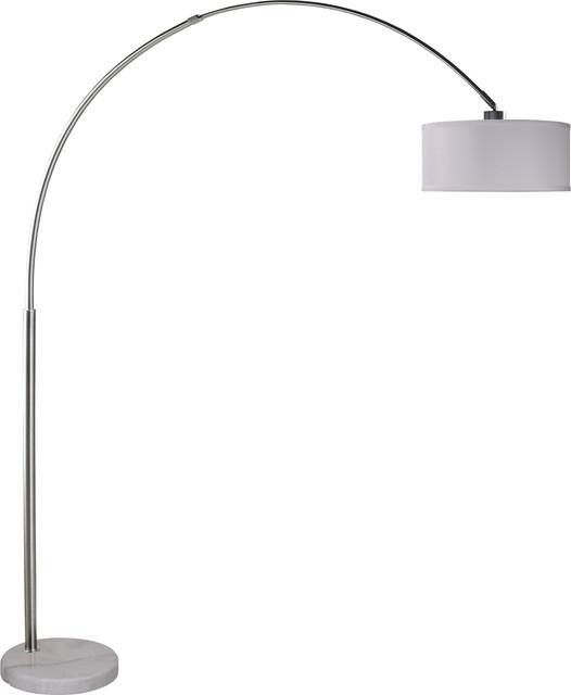 Sophia Arc Floor Lamp, Marbled Gray Contemporary Floor Lamps