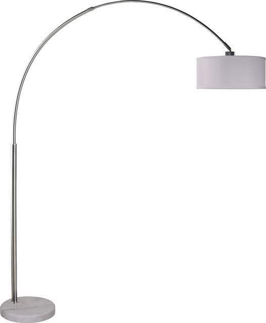 Sophia Adjustable 81&x27;&x27; Arc Floor Lamp With Marble Base, Marbled Gray.
