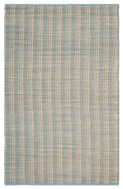 Malaga Cotton and Jute Floor Rug, Grey, 120x180 cm