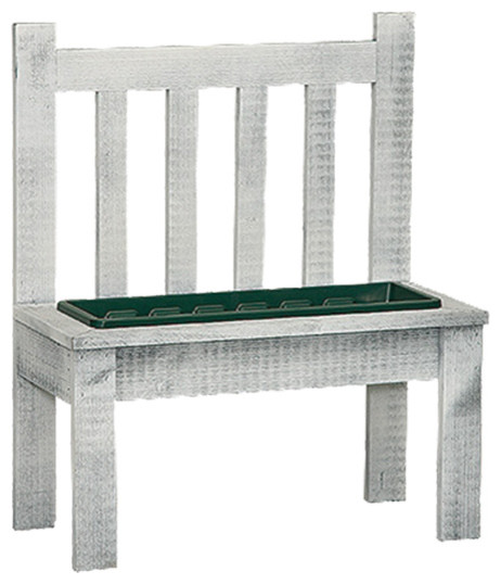 Groovy Primitive Bench With Planter Insert Gmtry Best Dining Table And Chair Ideas Images Gmtryco
