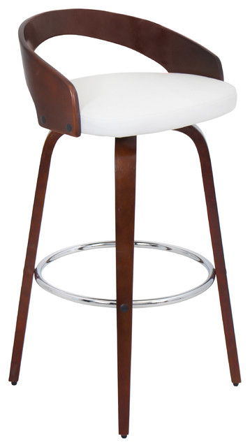 Grotto Barstool Cherry And White Contemporary Bar Stools Counter