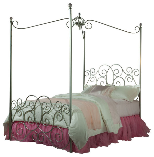 Standard Furniture Princess Canopy Bed In Silver Metal Traditional Kids Beds By Beyond S
