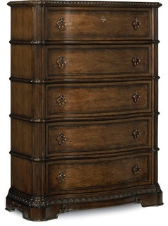 Legacy Classic Pemberleigh-Drawer Chest, Brandy With Burnished Edges Finish