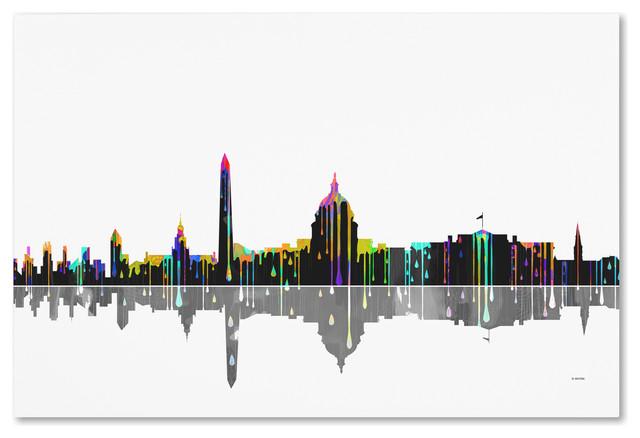 Washington Dc Skyline Canvas Art By Marlene Watson