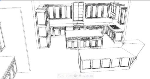 Amazing Kitchen Layout Drawing Gallery