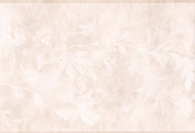 Cream White Floral Wallpaper Border Roll Traditional