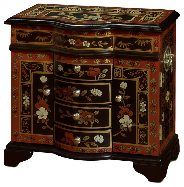 China Furniture and Arts - Tibetan Flower Motif Jewelry Cabinet & Reviews | Houzz