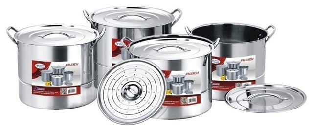 Alpine cuisine 12 piece stainless steel steamer pot set for Alpine cuisine ceramic cookware