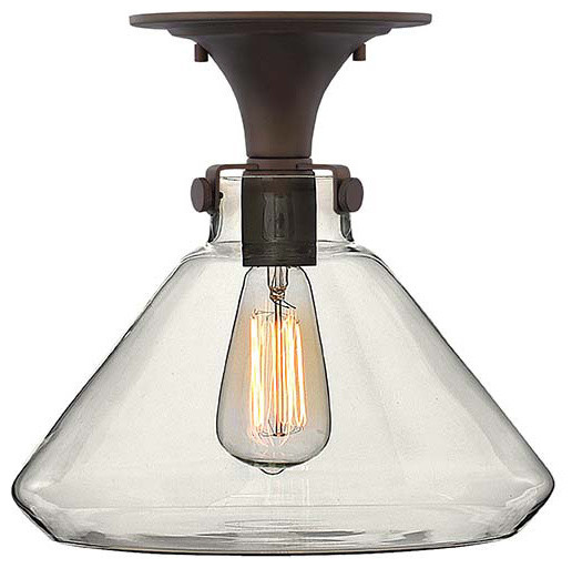 Hinkley Lighting 3147oz Congress Oil Rubbed Bronze Flush Mount.
