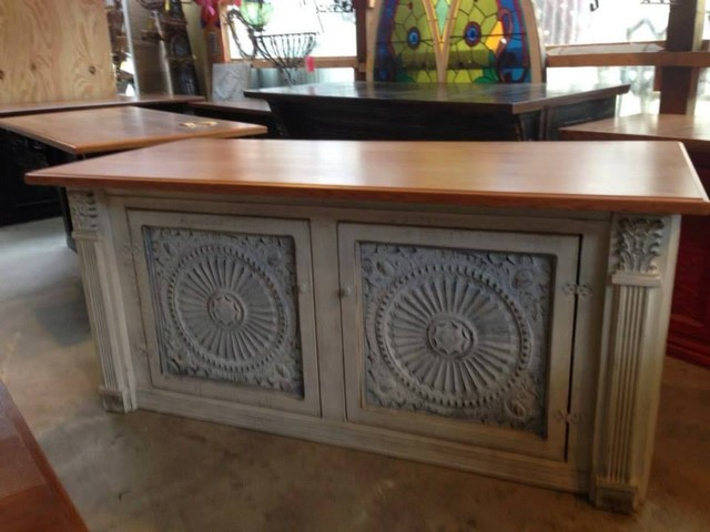 Antique Tin Furniture Rustic Indoor Pub And Bistro Tables Tampa By American Tin Ceilings