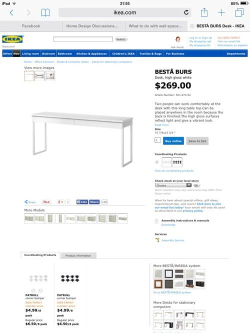 I Want To Paint An IKEA Besta Burs Desk
