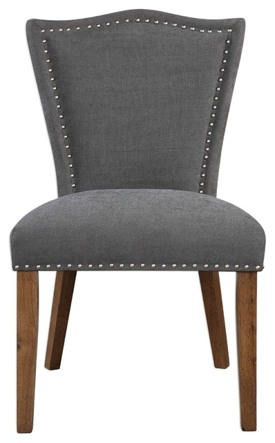 Uttermost Ruhls Gray Armless Chair.