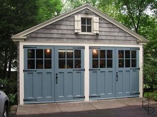 Evergreen Carriage Door - Traditional - Garage Doors And Openers