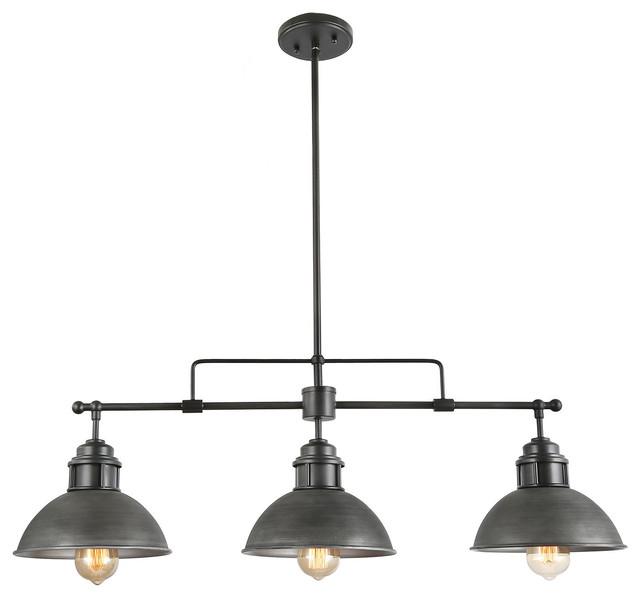 3 Light Linear Chandeliers Kitchen Island Pendant Lighting