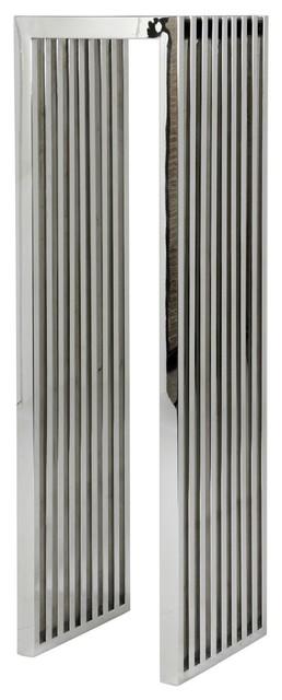 "Stainless Steel Column, Eichholtz Carlisle, Black, 14""x14""x47"""