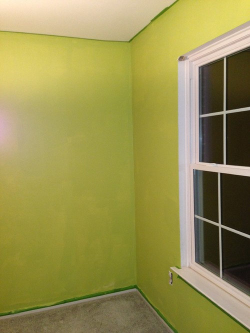 Is green paint color too bright ?