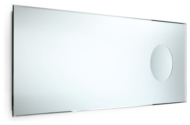 speci beveled mirror with magnifying mirror - contemporary - bathroom mirrors