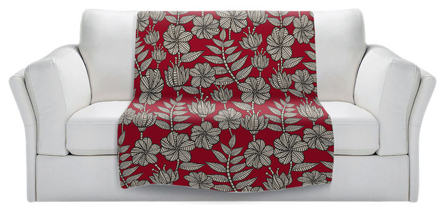 Kenia 1 Red Throw Blanket Contemporary Throws By