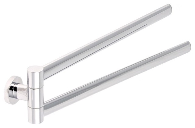 Gedy Sleek 17 Quot Chrome Double Swivel Towel Bar View In
