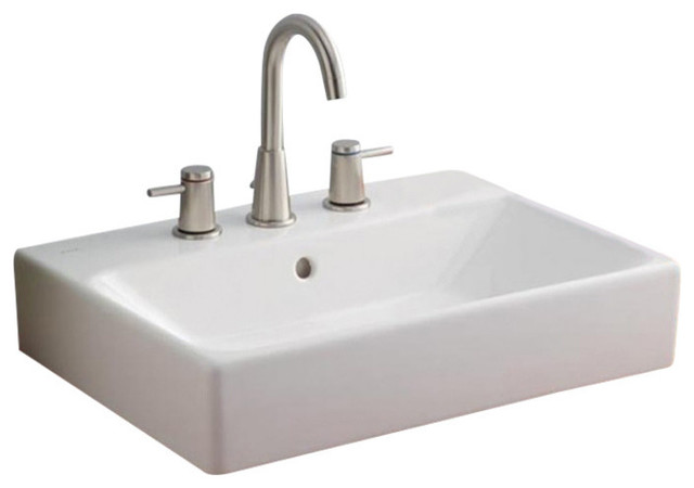 Nuo Vessel Sink, 23 5/8, 8 Faucet Drilling.