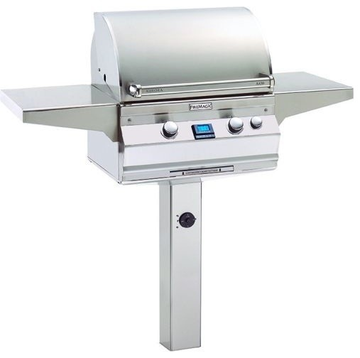 A430s5aanp6 Analog Style Patio Post Mount Grill, Natural Gas.