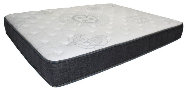 "9"" Rejuvinate Plush Top, Pocket Coil Mattress, White And Gray, Queen, Twin"