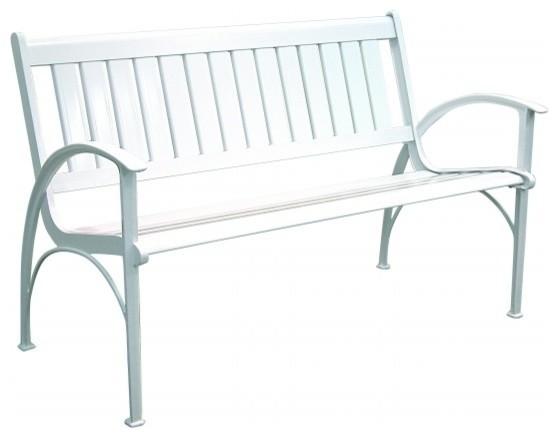 Innova Hearth and Home C630, 19 Contempo Versa Bench, White - Transitional - Outdoor Benches ...