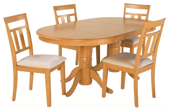 Oval Dining Room Table Chair Set 42 X78 Oak