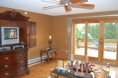 I Have A 9 Slider 2 French Doors An Off Center Fireplace And Entry To The Living Room Coming Foyer Can Anyone Please Help