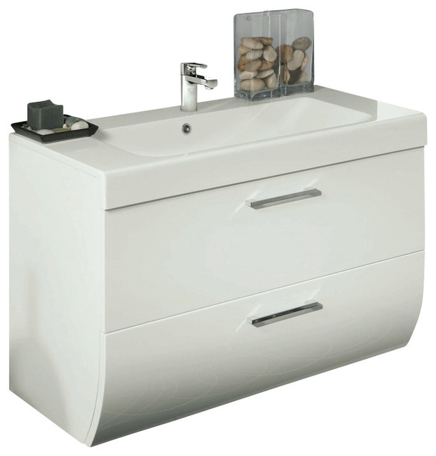 30 Inch Vanity Cabinet With Ceramic Sink Contemporary