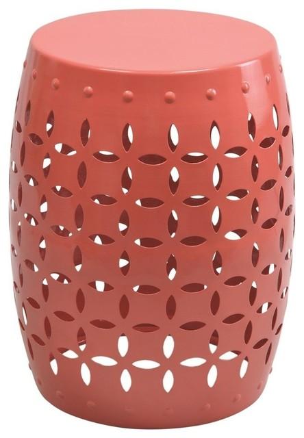 Fabulous Favia 18 Small Accent Table Salmon Pink Beatyapartments Chair Design Images Beatyapartmentscom