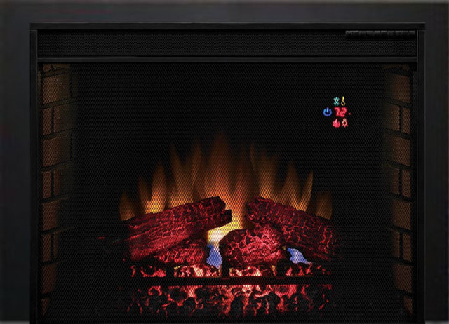"""Classic Flame 28"""" 28ef023sra Electric Fireplace Insert With Trim."""