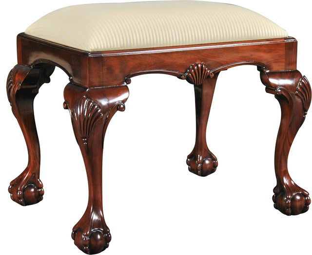 Bench Chippendale Cabriole Legs Ball And Claw Feet Neutral.