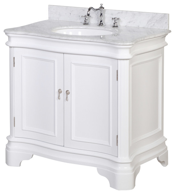 Katherine Single Bath Vanity, Base: White, 36 Part 35