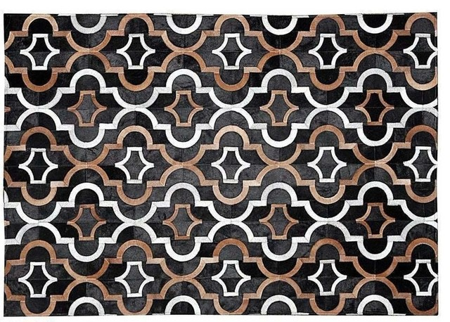 White Patchwork Rug