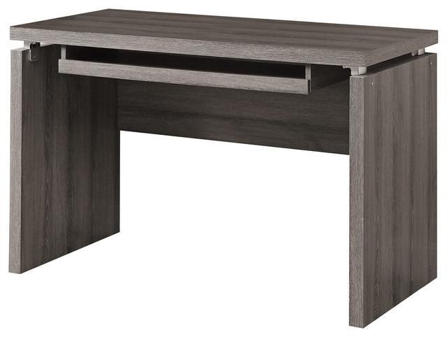 "monarch 48"" computer desk, maple - contemporary - desks and"