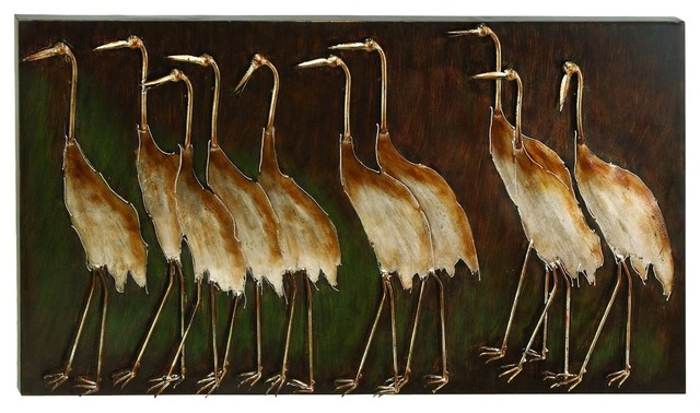March Of The Herons Wall Plaque.