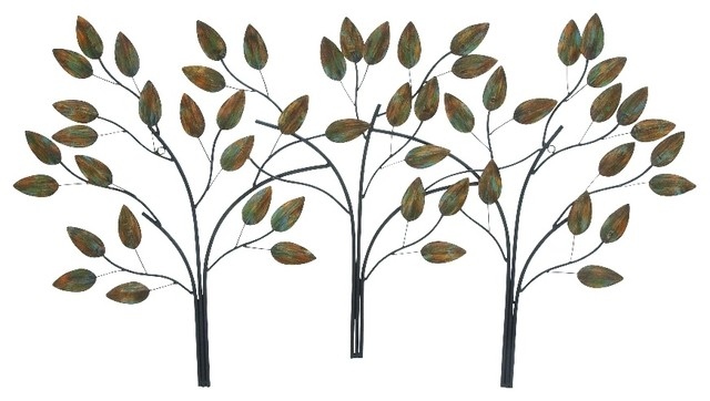 Branches metal wall art contemporary metal wall art for Metal leaf wall art
