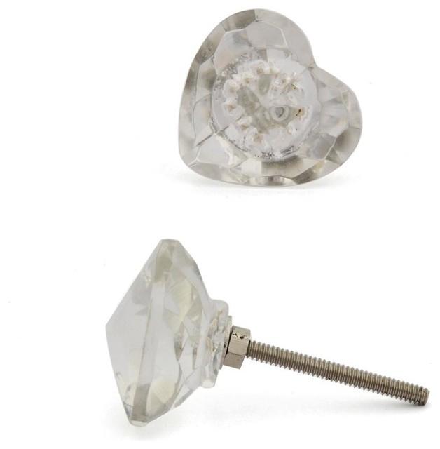 Shop Houzz | Knobco Glass Knobs, Clear Heart Shaped, Set ...