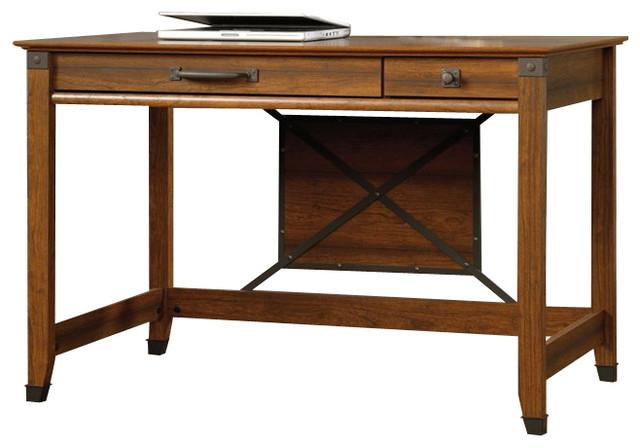 sauder carson forge writing desk washington cherry andhutches