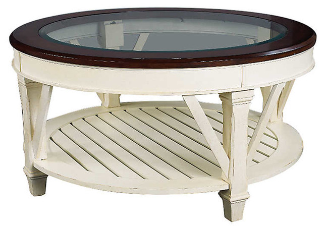Promenade Round Cocktail Table By Hammary Beach Style