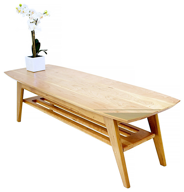 The Soho: Midcentury Modern Solid Cherry Surfboard Coffee