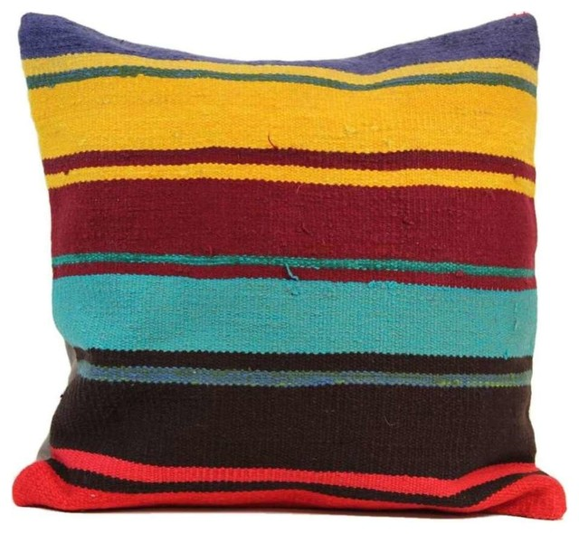 Handmade Vintage Throw Pillows : Authenturkish Handmade Vintage Kilim Pillow Cover 20