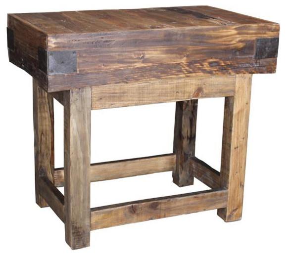Reclaimed Wood Kitchen Island modern kitchen islands and kitchen carts
